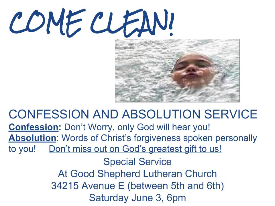 Confession and Absolution Service