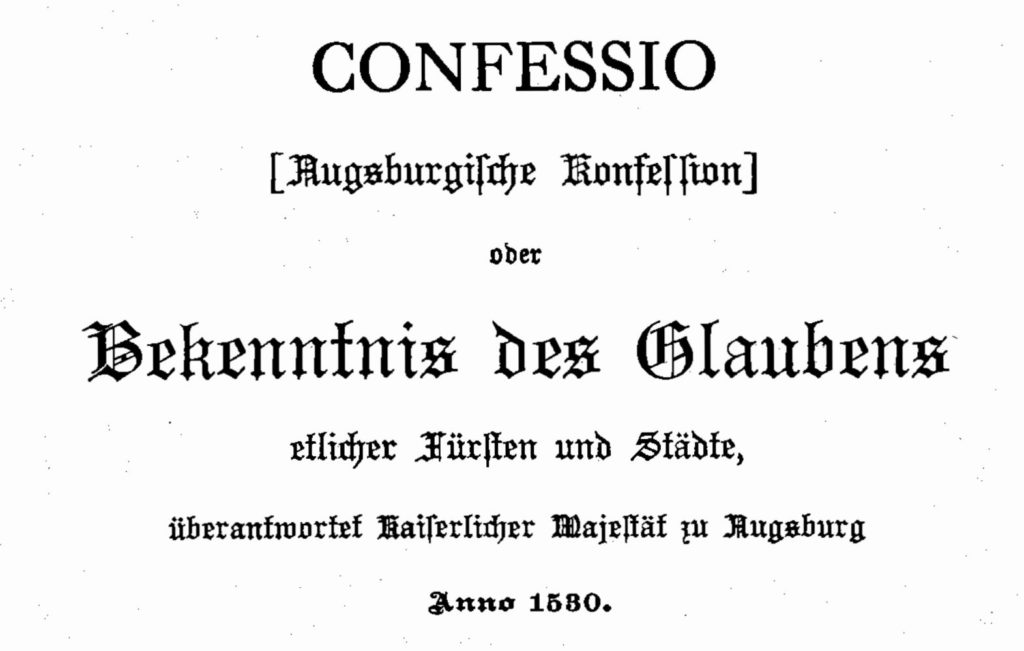 Augsburg Confession - German
